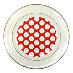 Red Polkadot Porcelain Display Plate by Zandiepants