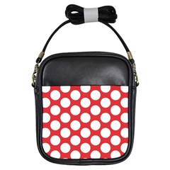 Red Polkadot Girl s Sling Bag by Zandiepants