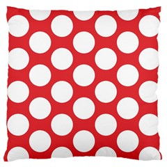 Red Polkadot Large Cushion Case (single Sided)  by Zandiepants