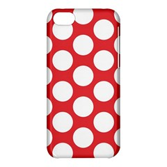 Red Polkadot Apple iPhone 5C Hardshell Case