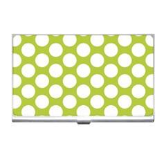 Spring Green Polkadot Business Card Holder by Zandiepants