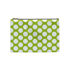 Spring Green Polkadot Cosmetic Bag (medium) by Zandiepants
