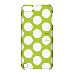 Spring Green Polkadot Apple Ipod Touch 5 Hardshell Case With Stand by Zandiepants