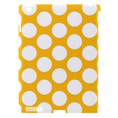 Sunny Yellow Polkadot Apple Ipad 3/4 Hardshell Case (compatible With Smart Cover) by Zandiepants