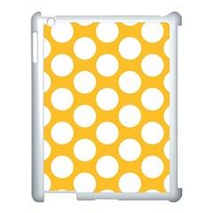 Sunny Yellow Polkadot Apple Ipad 3/4 Case (white) by Zandiepants