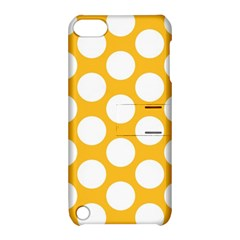 Sunny Yellow Polkadot Apple Ipod Touch 5 Hardshell Case With Stand by Zandiepants