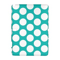 Turquoise Polkadot Pattern Samsung Galaxy Note 10 1 (p600) Hardshell Case by Zandiepants