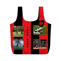 Black And Red (any Team) Recycle Bag (m) By Deborah   Full Print Recycle Bag (m)   Zp8ml0kjyye0   Www Artscow Com Front