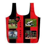Black and Red (any Team) Recycle Bag (L) - Full Print Recycle Bag (L)
