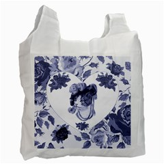 MISS KITTY White Reusable Bag (One Side)