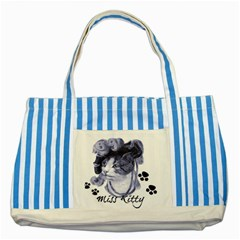Miss Kitty Blues Blue Striped Tote Bag by misskittys