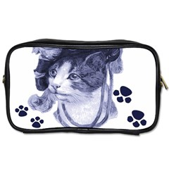 Miss Kitty Blues Travel Toiletry Bag (two Sides) by misskittys