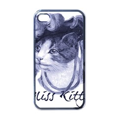 Miss Kitty Blues Apple Iphone 4 Case (black) by misskittys
