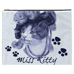 Miss Kitty Blues Cosmetic Bag (xxxl) by misskittys