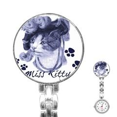 Miss Kitty Blues Stainless Steel Nurses Watch by misskittys