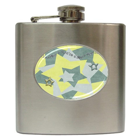 Flask Star By Shelly   Hip Flask (6 Oz)   Kaqsuow10wv9   Www Artscow Com Front