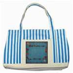 star tote 2 - Striped Blue Tote Bag