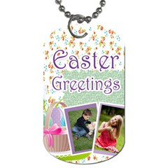 Easter By Easter   Dog Tag (two Sides)   9bdaz7u67brf   Www Artscow Com Front