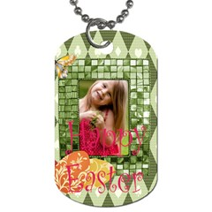 Easter By Easter   Dog Tag (two Sides)   4vegs9qoxdd9   Www Artscow Com Back