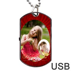 Easter By Easter   Dog Tag Usb Flash (two Sides)   K5g62t6hvfpq   Www Artscow Com Front