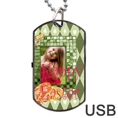 Easter By Easter   Dog Tag Usb Flash (two Sides)   Qbohfrpn2fzb   Www Artscow Com Front