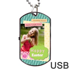 Easter By Easter   Dog Tag Usb Flash (two Sides)   By2tzd3t7f39   Www Artscow Com Back