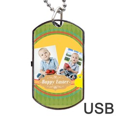 Easter By Easter   Dog Tag Usb Flash (two Sides)   6t2znnvh1fo7   Www Artscow Com Back