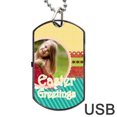 Easter By Easter   Dog Tag Usb Flash (two Sides)   Vfdhvlwg1wbw   Www Artscow Com Front