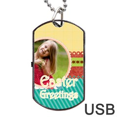 Easter By Easter   Dog Tag Usb Flash (two Sides)   Vfdhvlwg1wbw   Www Artscow Com Back