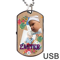 Easter By Easter   Dog Tag Usb Flash (two Sides)   Vggqyom9i6iv   Www Artscow Com Back