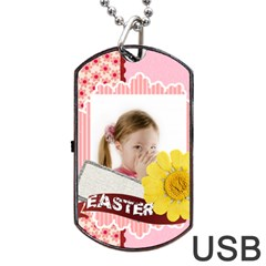 Easter By Easter   Dog Tag Usb Flash (two Sides)   Eqc7bugvxuer   Www Artscow Com Front