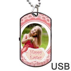 Easter By Easter   Dog Tag Usb Flash (two Sides)   Spwniaodeu3c   Www Artscow Com Front