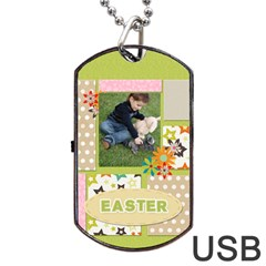 Easter By Easter   Dog Tag Usb Flash (two Sides)   80wlg7mf18b3   Www Artscow Com Front