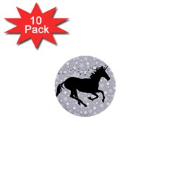 Unicorn On Starry Background 1  Mini Button (10 Pack) by StuffOrSomething