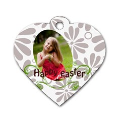 Easter By Easter   Dog Tag Heart (two Sides)   K8m86oqmwi8c   Www Artscow Com Front