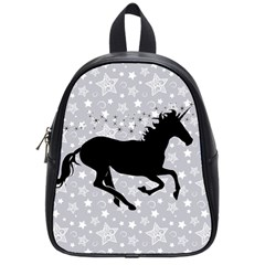 Unicorn On Starry Background School Bag (small) by StuffOrSomething