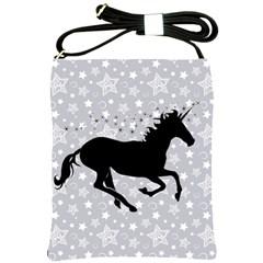 Unicorn On Starry Background Shoulder Sling Bag by StuffOrSomething