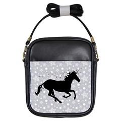 Unicorn On Starry Background Girl s Sling Bag by StuffOrSomething