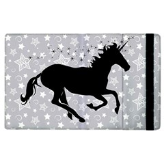 Unicorn On Starry Background Apple Ipad 3/4 Flip Case by StuffOrSomething