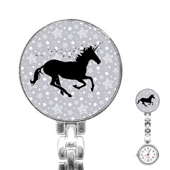 Unicorn on Starry Background Stainless Steel Nurses Watch by StuffOrSomething