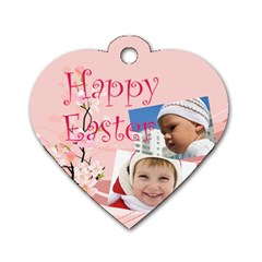 Easter By Easter   Dog Tag Heart (two Sides)   Zrbc1hfoz3na   Www Artscow Com Front