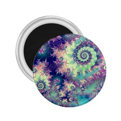 Violet Teal Sea Shells, Abstract Underwater Forest 2.25  Magnet