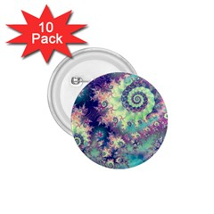 Violet Teal Sea Shells, Abstract Underwater Forest 1 75  Button (10 Pack)  by DianeClancy