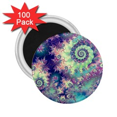 Violet Teal Sea Shells, Abstract Underwater Forest 2 25  Magnet (100 Pack)  by DianeClancy