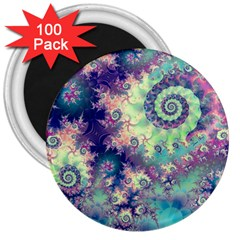 Violet Teal Sea Shells, Abstract Underwater Forest 3  Magnet (100 Pack) by DianeClancy