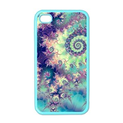 Violet Teal Sea Shells, Abstract Underwater Forest Apple Iphone 4 Case (color) by DianeClancy