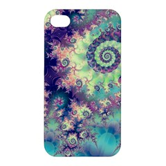 Violet Teal Sea Shells, Abstract Underwater Forest Apple Iphone 4/4s Hardshell Case by DianeClancy