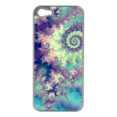 Violet Teal Sea Shells, Abstract Underwater Forest Apple Iphone 5 Case (silver) by DianeClancy