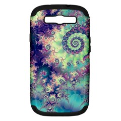 Violet Teal Sea Shells, Abstract Underwater Forest Samsung Galaxy S Iii Hardshell Case (pc+silicone)