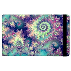 Violet Teal Sea Shells, Abstract Underwater Forest Apple Ipad 2 Flip Case by DianeClancy